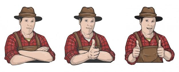 Illustrazione contadino