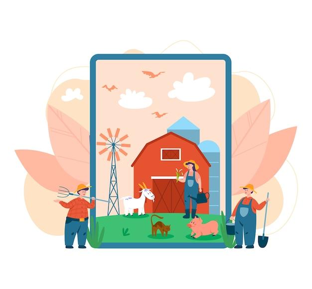 Servizio o piattaforma online per agricoltori