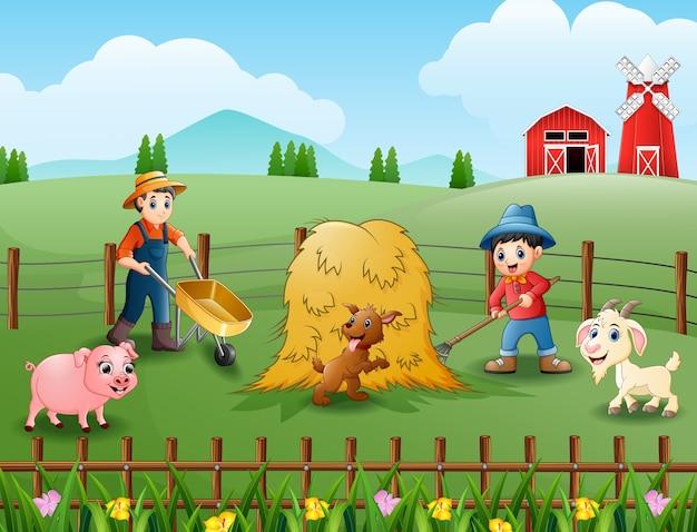 Attività agricole nelle fattorie con animali