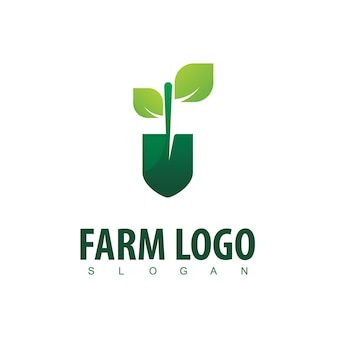 Modello di progettazione del logo agricolo