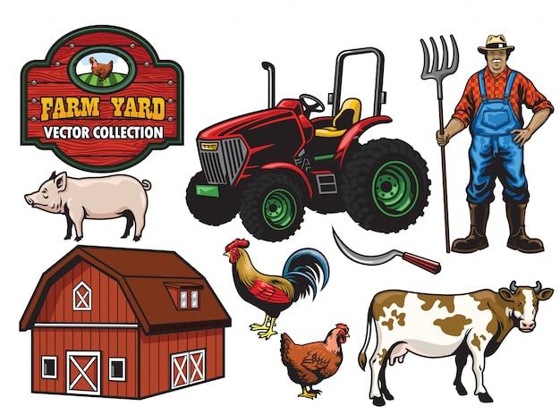 Raccolta del cortile agricolo