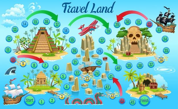Affascinante gioco di avventura pirata per bambini.
