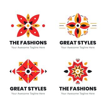 Collezione di modelli di logo di accessori di moda