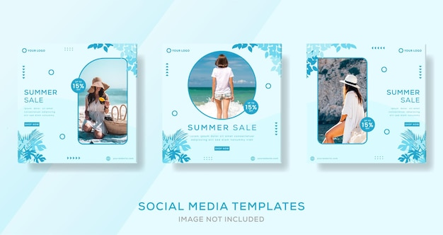 Banner di moda per il modello di vendita estiva post
