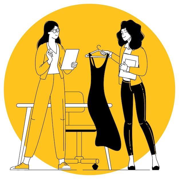 Proprietario e gestore di un negozio di abbigliamento di moda