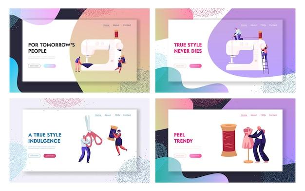 Set di pagine di destinazione del sito web di design di moda