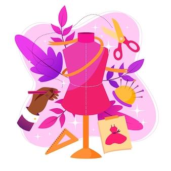 Concetto di illustrazione stilista di moda
