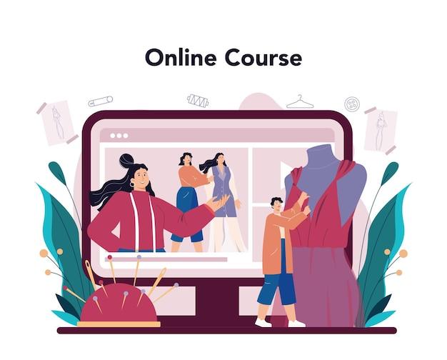 Servizio o piattaforma online di stilista di moda Vettore Premium