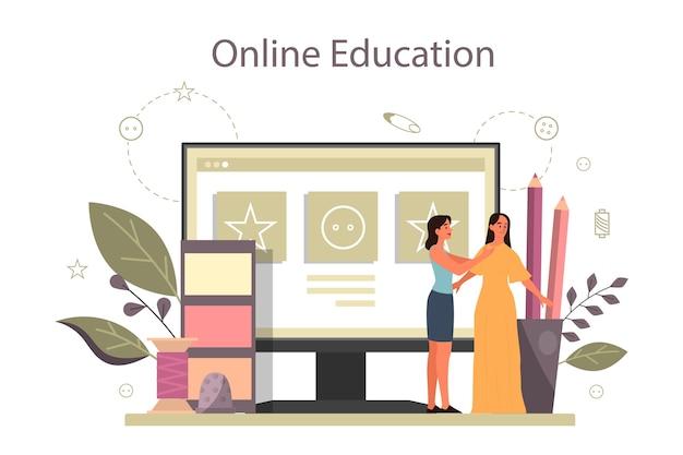 Stilista di moda o servizio online su misura o piattaforma