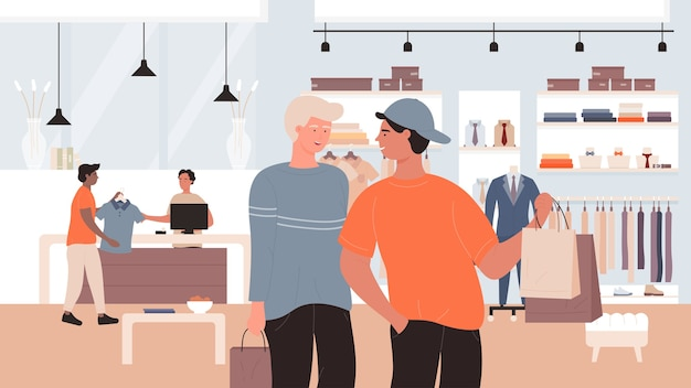Illustrazione piana di vendite di sconto di moda