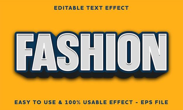 Effetto di testo modificabile alla moda