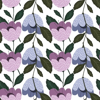 Reticolo senza giunte di moda fiori geometrici. carta da parati floreale. bella texture vintage botanica. bel design per tessuto, stampa tessile, avvolgimento, copertina. illustrazione vettoriale.