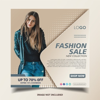 Modello di post banner di moda instagram