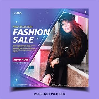 Modello di post banner di moda instagram