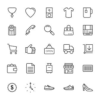 Icone di linea di moda