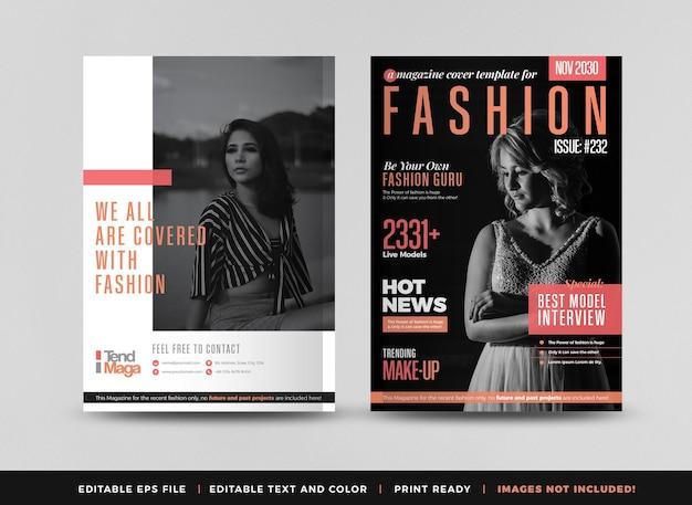 Design della copertina di una rivista di moda