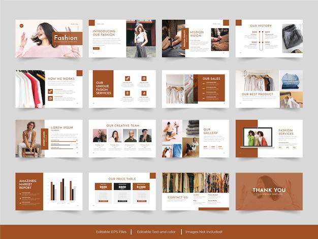 Modello di diapositive di presentazione minimale di moda