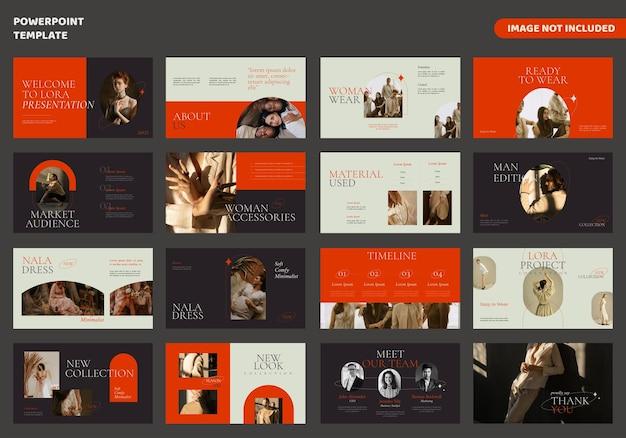 Modello di presentazione di diapositive minime di moda