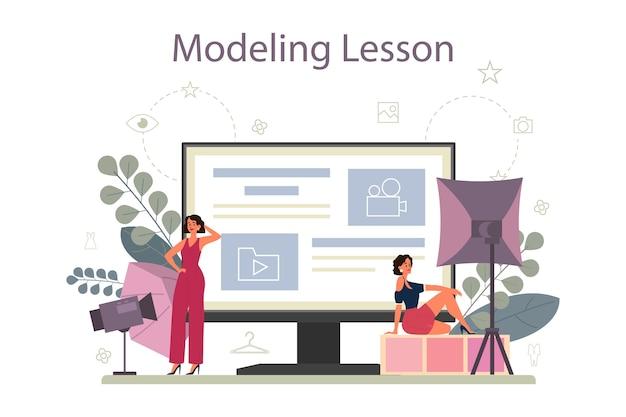 Servizio o piattaforma online per modelli di moda.