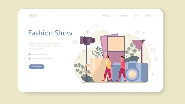 Banner web o pagina di destinazione del modello di moda