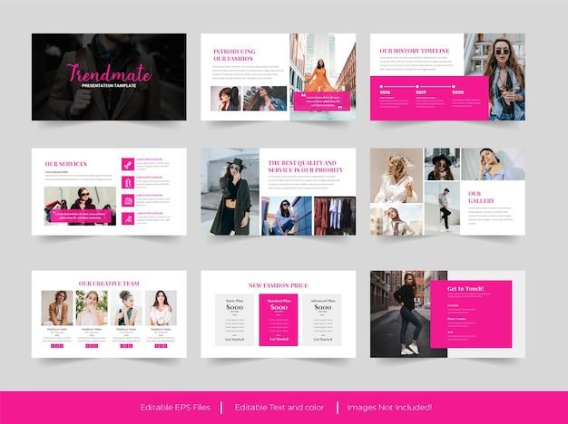 Modello di presentazione powerpoint di moda
