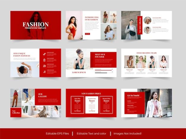 Design del modello di diapositive di presentazione di moda
