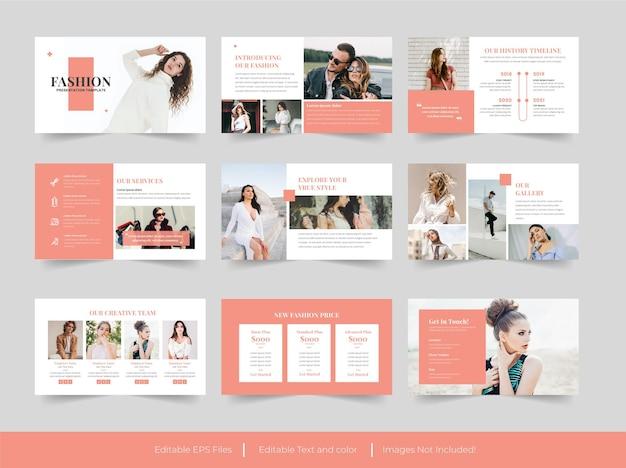 Modello di diapositive di presentazione di moda