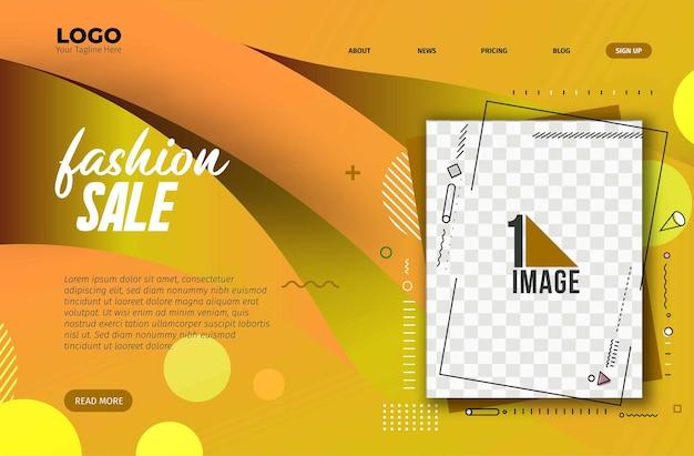 Design di banner di vendita di moda con lo spazio della tua foto. illustrazione vettoriale.