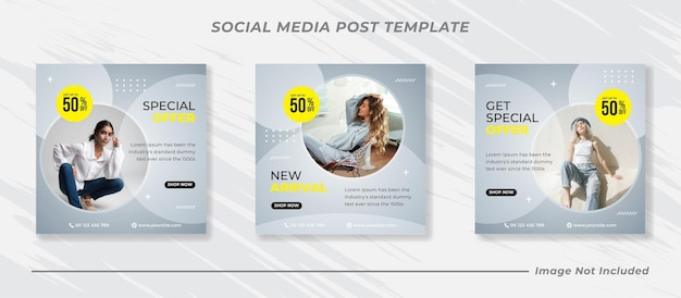 Banner di vendita di moda per modello di post sui social media