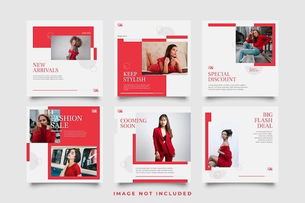Banner o quadrato di vendita di moda per modello di post sui social media