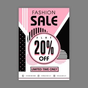 Brochure modo di vendita con elementi rosa e neri