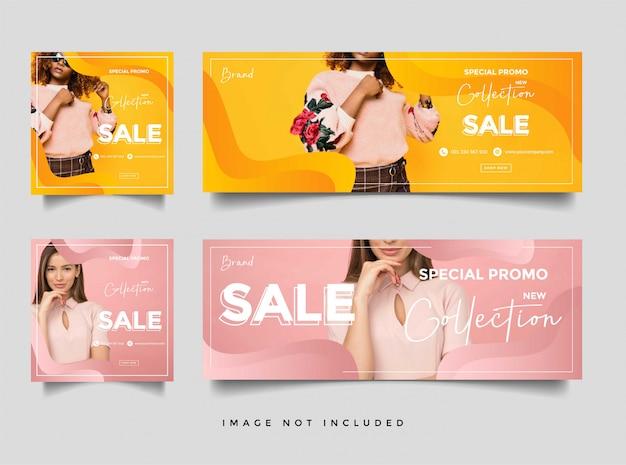 Banner di copertina di vendita di moda