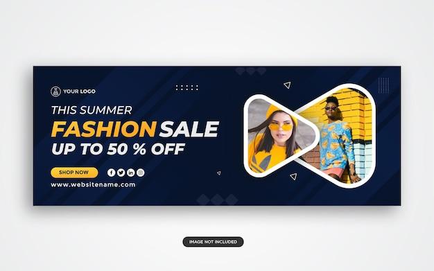 Vendita di moda copertina facebook e pubblicità web vettore premium