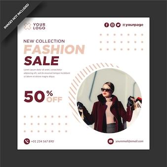Modello di progettazione di instagram di vendita di moda