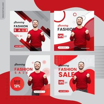 Vendita di moda, design di banner post instagram