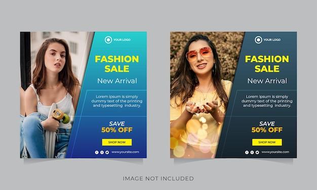 Collezione di modelli di post instagram vendita di moda