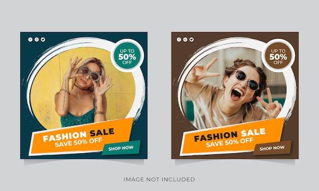 Modello di post instagram vendita di moda