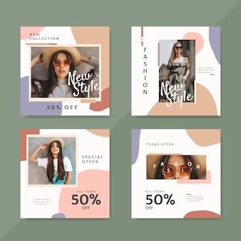 Messaggi di instagram di vendita di moda con foto