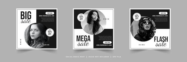 Modello di post sui social media di instagram di vendita di moda