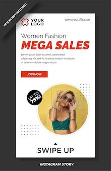 Modello di storie di instagram di vendita di moda