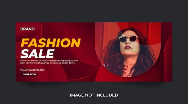 Modello di annuncio e banner sui social media di vendita di moda