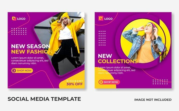 Modello di post di instagram per social media di vendita di moda