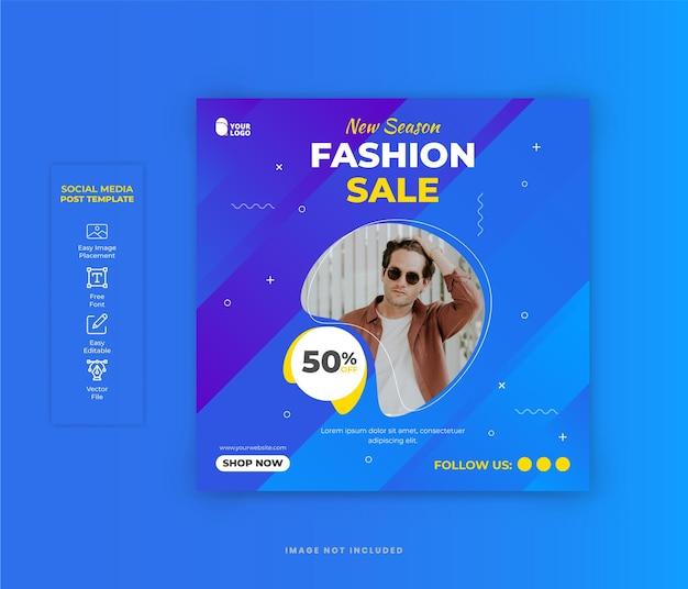 Post di social media di vendita di moda per il design di banner di instagram