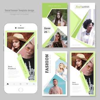 Modello di media sociali di vendita di moda