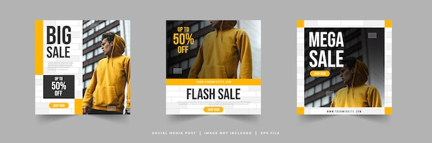 Post sui social media di vendita di moda