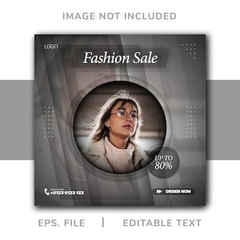 Promozione sui social media di vendita di moda e design di banner per instagram