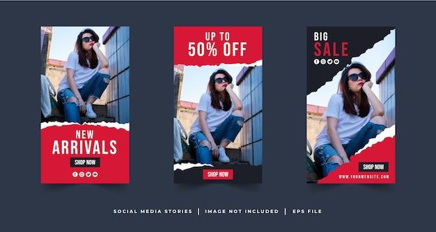Storie di social media di vendita di moda