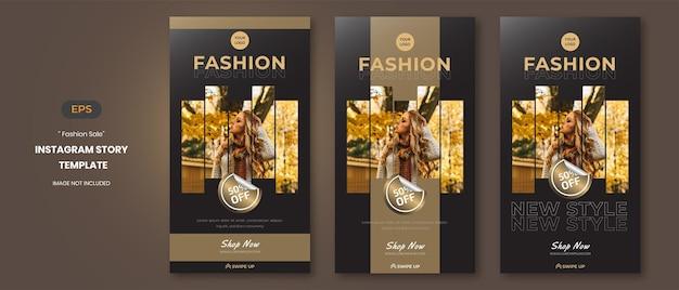 Storie sui social media di vendita di moda