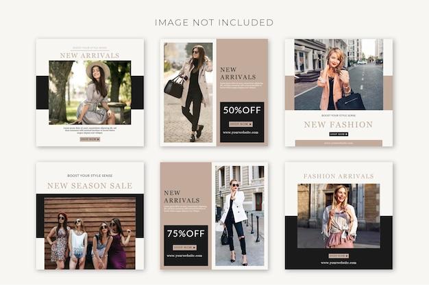 Modelli di post sui social media modificabili per la stagione della moda