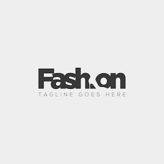 Scarpa di moda con semplice elemento piatto negativo logo tipo illustrazione vettoriale icona